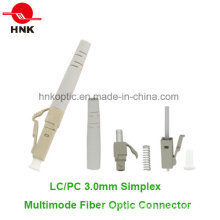 LC PC 3.0mm Simplex Multimode Fiber Optic Connector