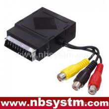 Scart plug to Scart jack + 3RCA jack in