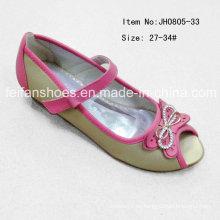 Beliebte Kinder Peep-Toe Single Schuhe Flache Schuhe Tanzschuhe (FF0808-33)
