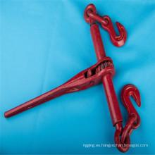 Carpeta de carga tipo trinquete para cadena de amarre