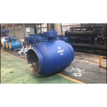 Fornecimento de aquecimento e gás natural de alta qualidade completa soldado trunnion válvula de esfera completa furo