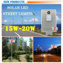 Hot Sale Outdoor Sensor Cast Aluminum Solar 15W LED Street Light Pole