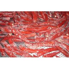 Pimentão vermelho congelado