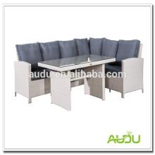 Powder Coated Aluminium Rahmen Audu White Rattan Möbel