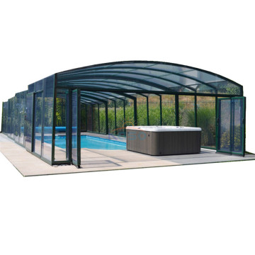 Sunroom Swimming Roof Cover Kit de cerramiento de aluminio para piscinas