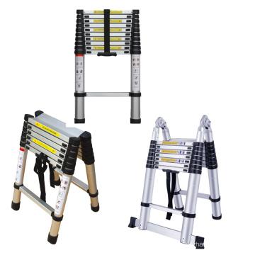 3.2m  Folding Aluminum step Telescopic Ladder with 150 kgs load capacity