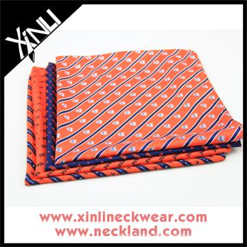 Custom Bespoke Hand Rolled Mens Silk Handkerchief Embroidery