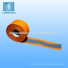 reflektierendes Band reflektierendes Band der orange und silbernen hohen Sichtbarkeit
