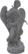 Grey Stone Marble Carving Statue / Sculpture for Landscape and Garden