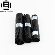 Biohazard reciclar bolsa de basura de color negro en rollo
