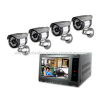 Network DVR with 7-inch Digital LCD, Screen Swing 90 Degrees Display