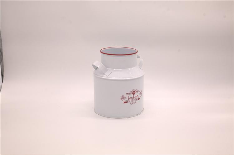 Galvanized White Milk Can