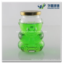 250ml 8oz Bear Shape Glass Candy Jar