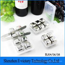 Cubes de glace en acier inoxydable Vin Whisky Pierre 4pcs/set