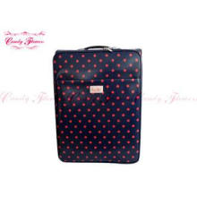 Lightweight 24 inch suitcase Ladies Trolley Bag with blue a