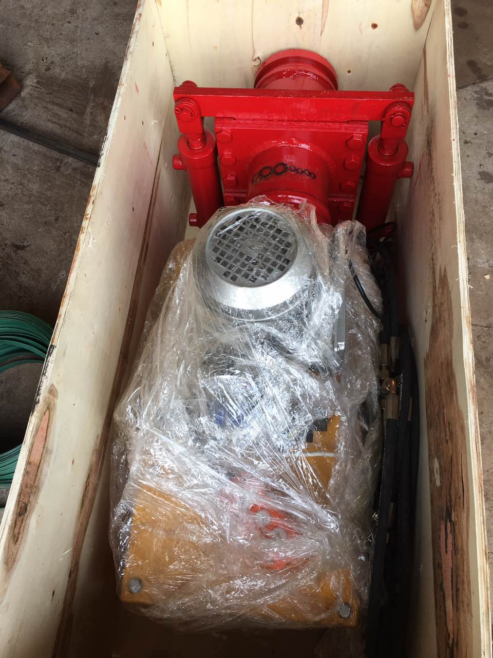 concrete pump hydraulic shut off valve