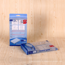 Caja de empaquetado de plástico personalizado claro caja de pvc