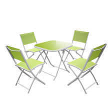 factory low price Used for Best Patio Furniture Sets,Outdoor Patio Furniture,Garden Table And Chairs Manufacturer in China 5pc foldable Aluminium Garden Dining Set export to Indonesia Wholesale