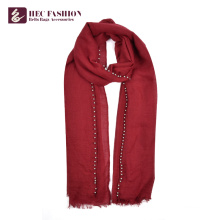 Хек Фабрика OEM Цена Китай длинные однотонные полиэстер Цвет женщин шарф