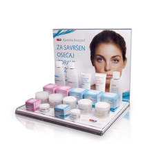 L-Shape Acrylic Counter Display for Cosmetics, Printed Cosmetic Display