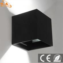 Квадрат IP65 Алюминиевое наружное освещение Светодиодная настенная лампа