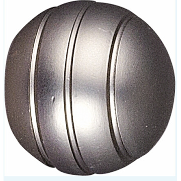 Hot Sale Ball with Grooves Curtain Rod Finial
