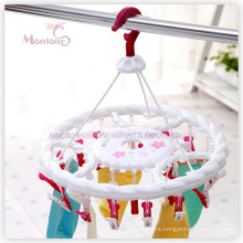 PP Plastic Round Hanger with 24PC Clips (Dia. 35cm)