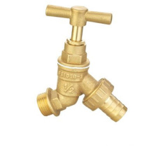 Outdoor brass faucet griferia for water saver hose connector