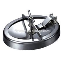 Sanitário em aço inoxidável redonda manhle tanque com pressão