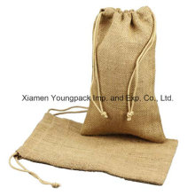 Wholesale Small Natural Jute Burlap Drawstring Favor Pouches