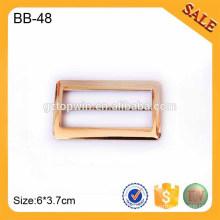 BB48 Fivela brilhante do sulco do metal da liga alta brilhante para o vestuário