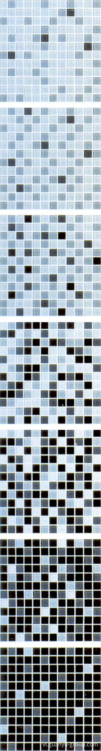Black Gradual Change Glass Mosaic