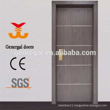Decorative Aluminum Lines melamine wooden doors