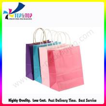 2016 dernière conception 4c Printing Wholesale Paper Brown Bag