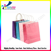 2016 Latest Design 4c Printing Wholesale Paper Brown Bag
