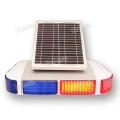 12V Solar Power LED Warnlicht Blitzlicht