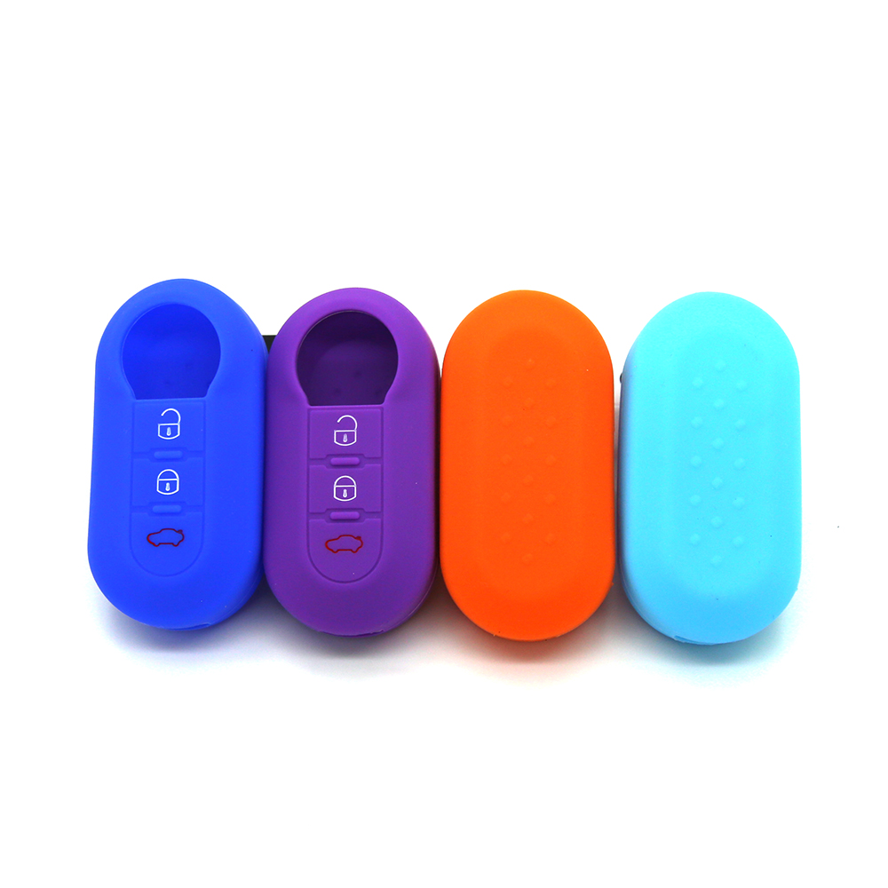 3 Buttons Fiat Silicon Key Case