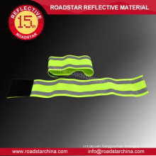 Durable running elastic reflective hook and loop armband