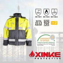 Пламя-retardant куртка с светоотражающие ленты для безопасности