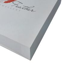 Hochwertige weiße Farbe Design einfache Schmuckschatulle