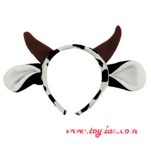 plush goat hairband