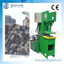 Pedra de granito hidráulica dividindo máquina de estampagem e corte