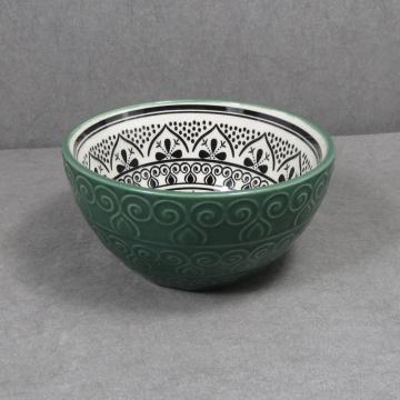 Set de cuenco de cerámica en relieve