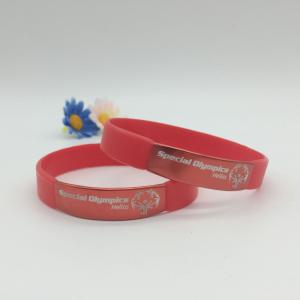 Silicone Wristbands with Metal for Sports