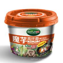 Shirataki baja en calorías fideos de taza instantánea para la dieta