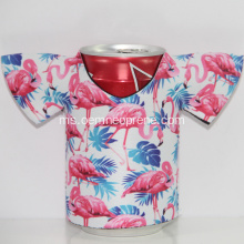 Terbaru Flamingo T-shirt Neoprene Can Coolers