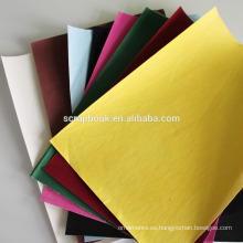 YIwu 100gsm colorido brillo papel flocado cartulina