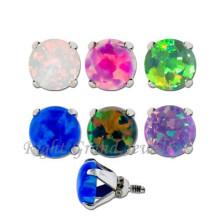 Nuevo Micro perforación cutánea Opal dérmica anclaje Joyería Piercing