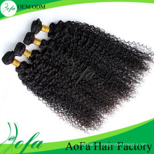 Venta caliente 7A grado virginal del pelo rizado rizado de la onda
