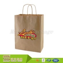 China Factory Low Cost Custom Made Brown Kraft Groceries Shopping Carry Supermarket Paper Bag